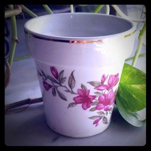 Other - Vintage Small Porcelain Plant Pot